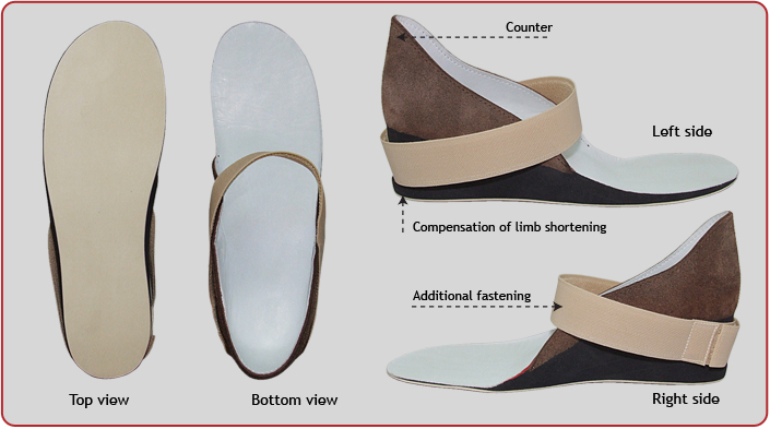 Orthopedic Insole with compensation of limb shortening P-24