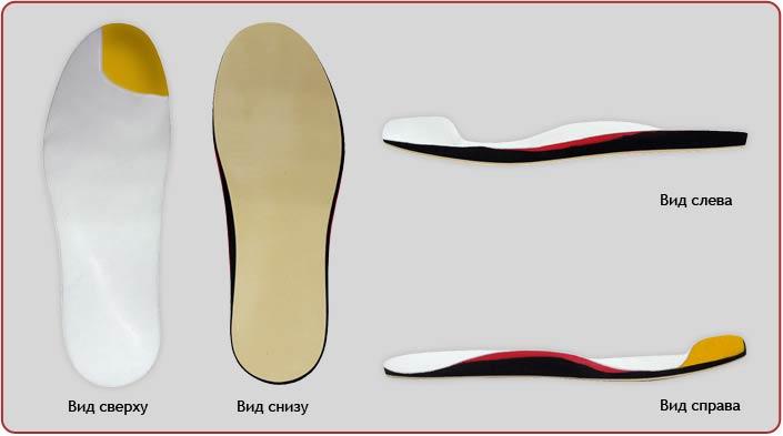 Стелька-супинатор ортопедическая с заполнением ампутации пальцев П-22